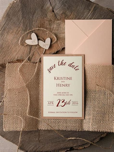 Save The Date Cards (20), Rustic Save The Date, Wood Save