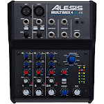 Alesis MultiMix 4 USB FX 4-Channel Mixer with Effects & USB Audio Interface - Unpowered Mixers - Mixers - MultiMix 4 USB FX