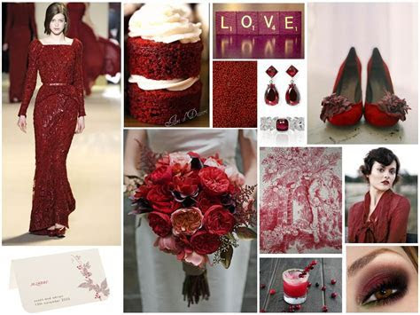 Inspiration for a Cranberry Red Wedding : Chic Vintage Brides