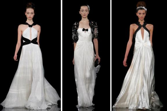 Cream Wedding Gown: Jeremy's Hair Style: Black And Cream Wedding Dresses