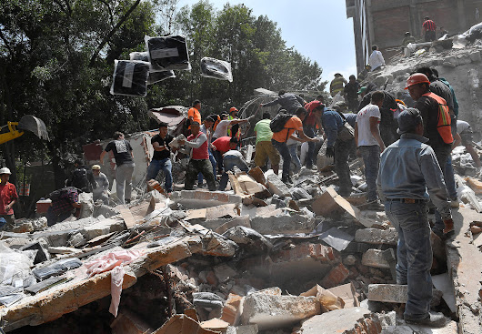 Photos show quake's destruction in Mexico