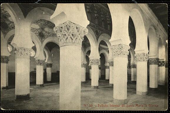 Sinagoga de Santa María la Blanca a comienzos del siglo XX. Foto Thomas
