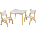 3pc Modern Table and Chair Set White - KidKraft