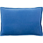 "Surya Cotton Velvet II Throw Pillows Pillow Cover Only / 13"" x 20"" / Dark Blue   FlairD"