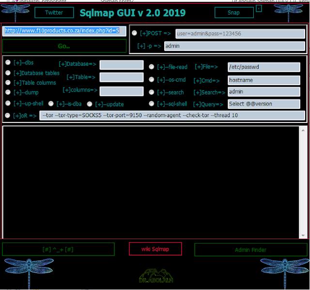 Sqlmap GUI v 2.0 2019