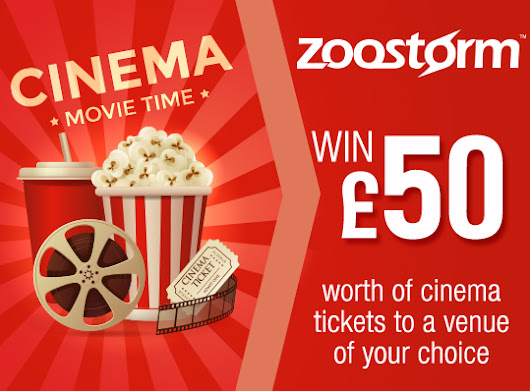 Win £50 worth of cinema tickets to a venue of your choice