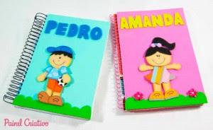 como fazer capa de caderno escolar menino menina eva (6)