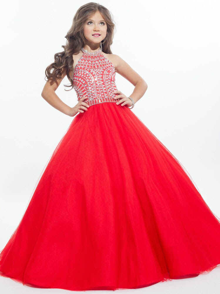 2017 girl kids pageant ball gown party princess gown