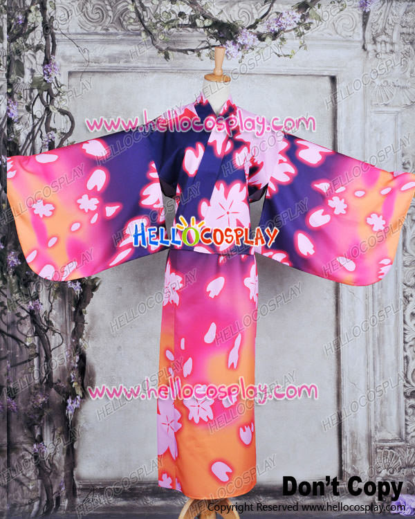 Vocaloid 2 Project DIVA F Cosplay Luka Dress Costume Kimono Bathrobe