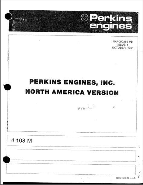Perkins diesel engine 4.108 M Parts cover - MARINE DIESEL