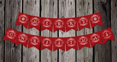 Free Printable Vintage Christmas Banner   Pretty My Party