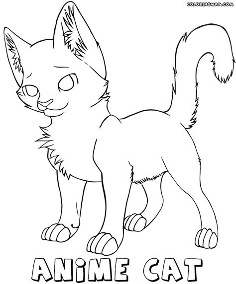 anime cat coloring pages coloring pages