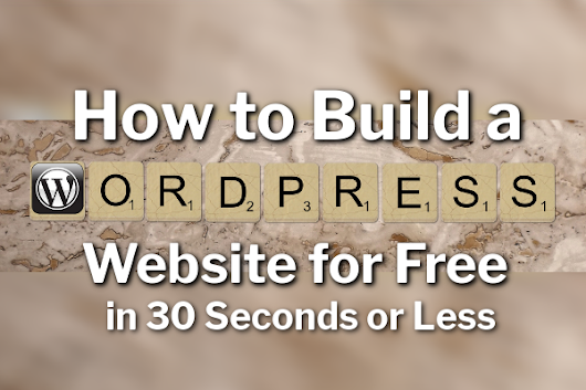 How to Build a WordPress Website For FREE in 30 Seconds or Less (Proof in Video) | Passive Online Revenue