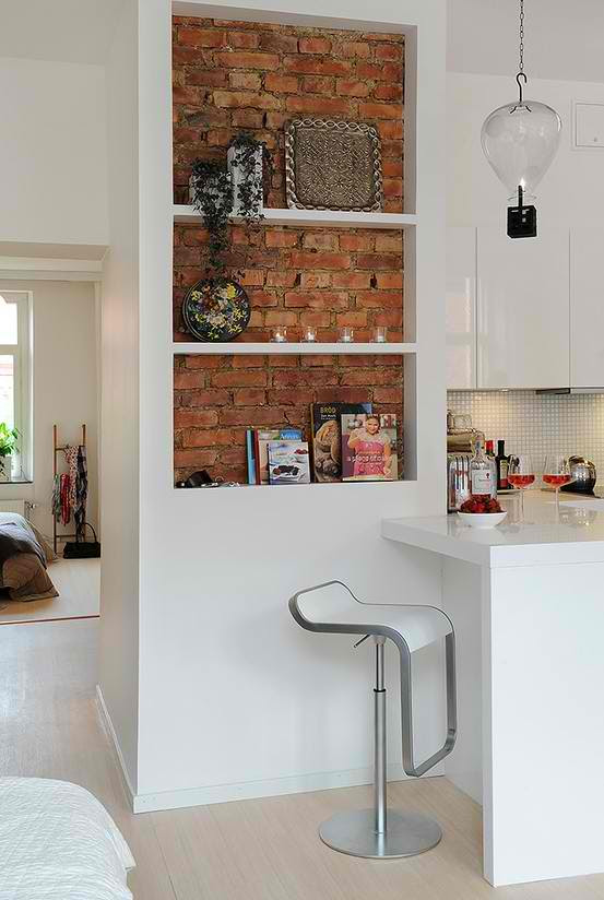 exposed brick wall kitchen design 7 ideas