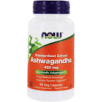 NOW Foods Ashwagandha Standardized Extract 450 mg. 90 Vegetable Capsule(s)