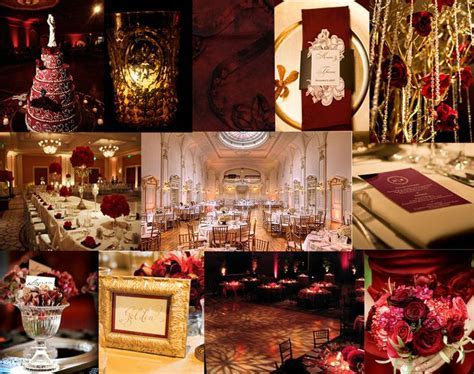 Yes   red wine, champagne, and gold!   Our Wedding