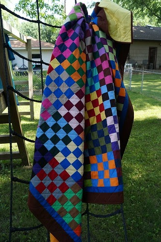 Amish Buggy Quilt Completed on Spiral Binding Border