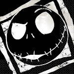 Nightmare Before Christmas Beverage Napkin (16) - 91702 - Pack of 16 - Black