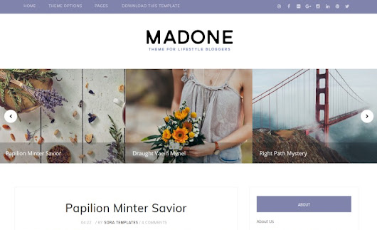 Madone Blogger Template • Latest Templates 2015
