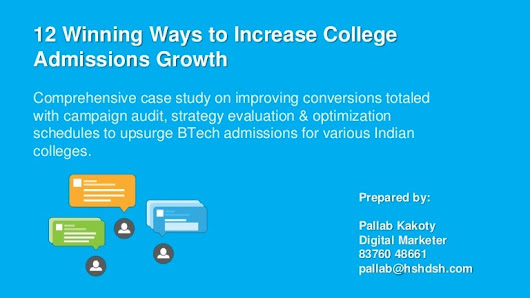 12 Winning Ways to Increase College Admissions Growth