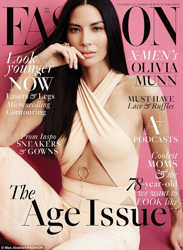 Cover girl: The 35-year-old actress looked taut in a $780 Cushnie et Ochs Bodysuit and $1,175 trousers selected by stylist George Antonopoulos for the May cover of FASHION
