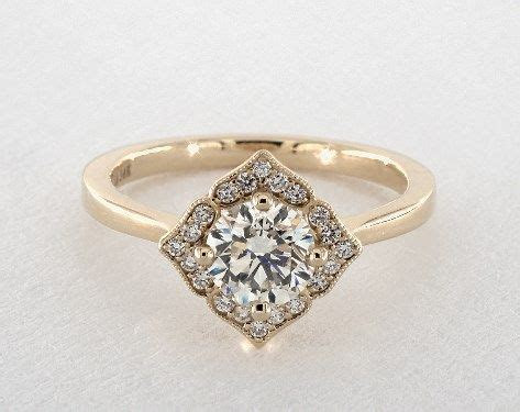 Magnolia Halo with a Southern Twist Engagement Ring in 4mm
