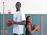 Tacko Fall, from Senegal, west Africa, is 7ft 5 in tall and only 18 years old