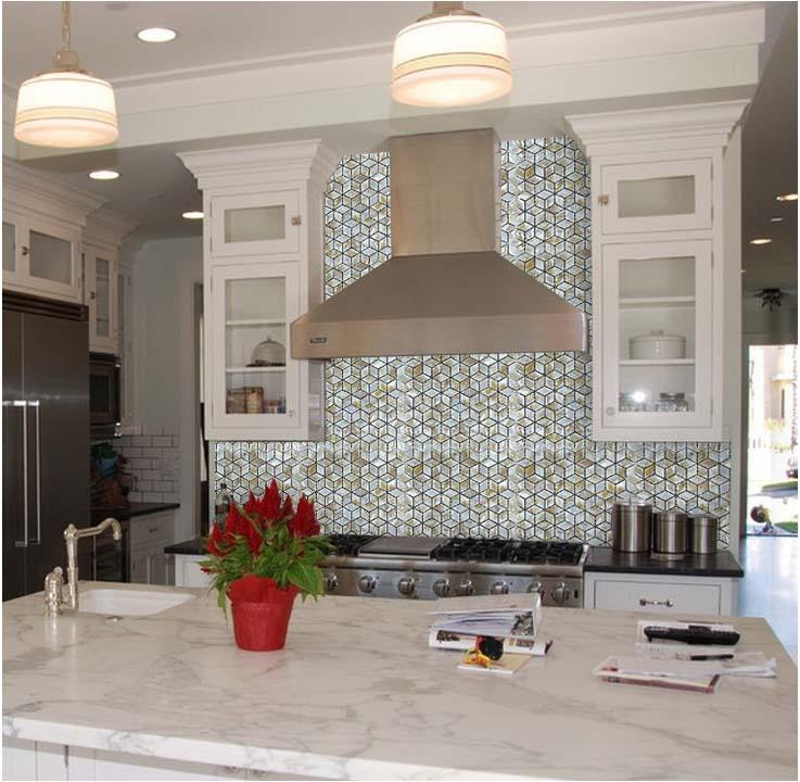 Kitchen Backsplash Tiles Diamond Mother Of Pearl Mosaic Tile St068
