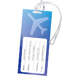 5220301 Fellowes Self-Adhesive Pouches - Luggage Tag with Loop, 5 pack