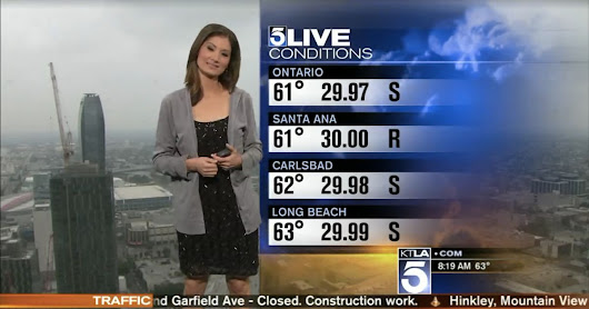 KTLA Meteorologist Handed A Sweater During Scandalous Weather Report