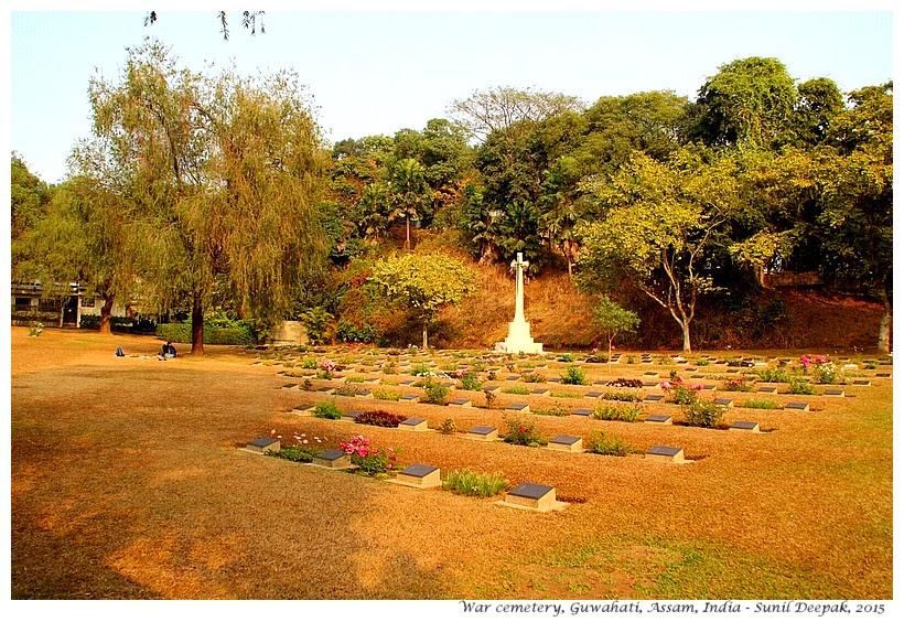 War cemetery, Guwahati, Assam, India - Images by Sunil Deepak