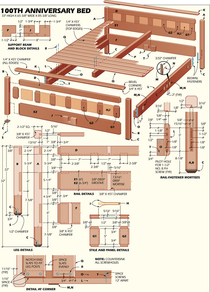 Woodworking Plans Table Free Woodworking Plans For Bed