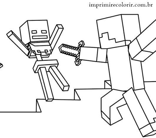 Magnfico Colorear Minecraft Creeper Para Colorear Patrn