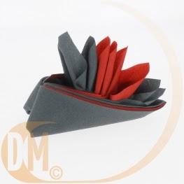 tuyaux pliage de serviette fleur 2 couleurs tuto. Black Bedroom Furniture Sets. Home Design Ideas