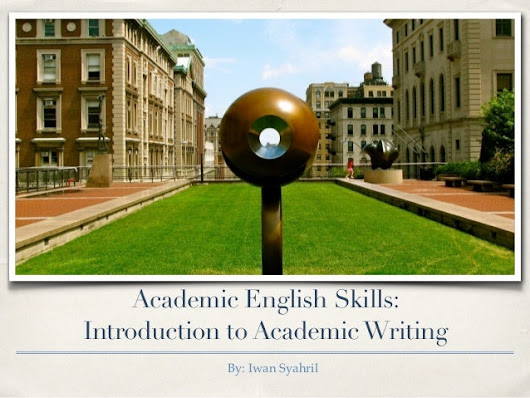 Academic English Skills: Introduction to Academic Writing Skills