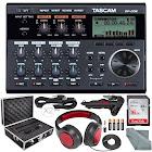 Tascam DP-006 6-Track Digital Pocketstudio and Deluxe Accessory Bundle w/ Headphones + Case + Cables + 16GB + Xpix Tripod + More
