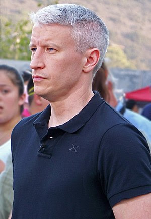 Anderson Cooper at Qualcomm Stadium during the...