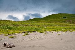 Adak Hills with Dark Clouds