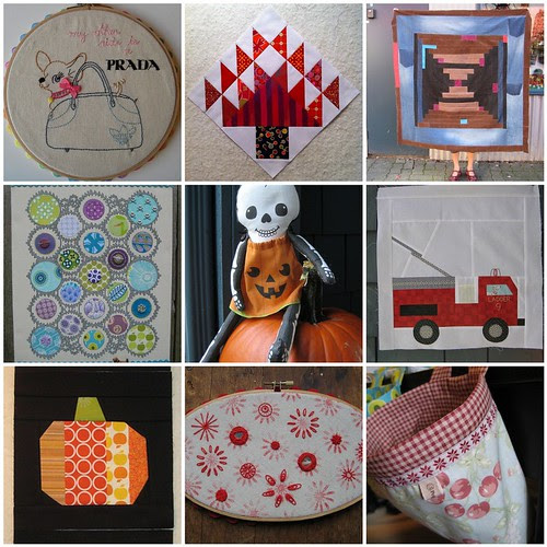 All over October - Poppyprint's month in stitches