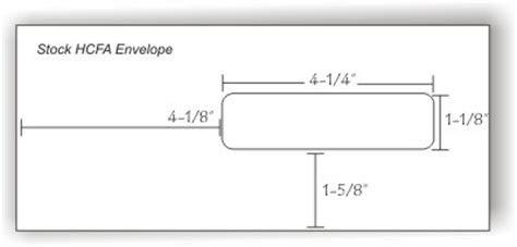 hcfa claim form envelope