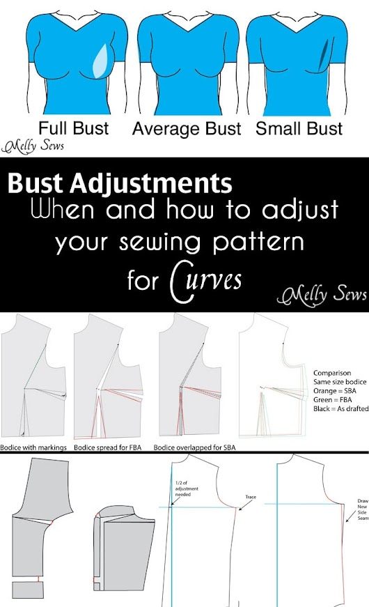 How to Do a Bust Adjustment - Melly Sews