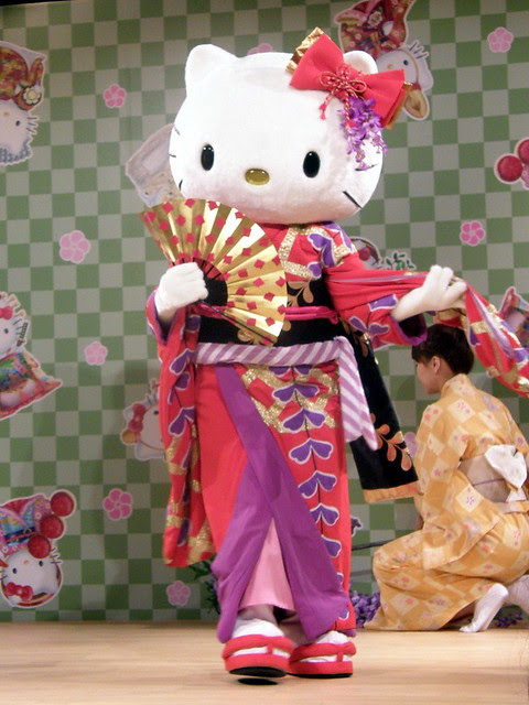 Hello Kitty dances Fuji Musume (藤娘) #8548