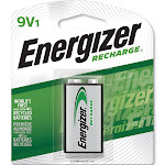 Energizer NiMh Rechargeable Battery, 9 V