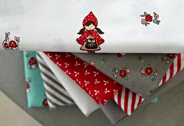 I'm loving these Little Red Riding Hood fabrics! They are so cute!!