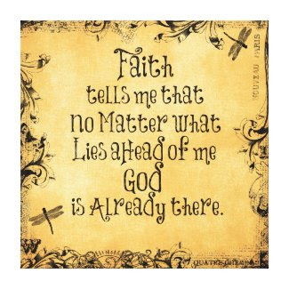 Inspirational Faith Quote Gallery Wrap Canvas