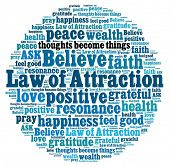 image of gratitude  - Law of attraction in word collage - JPG