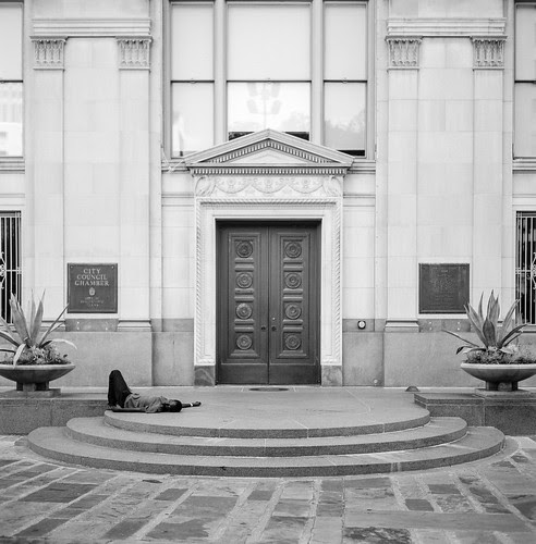 On the Steps of City Council Chamber by Jesse Acosta