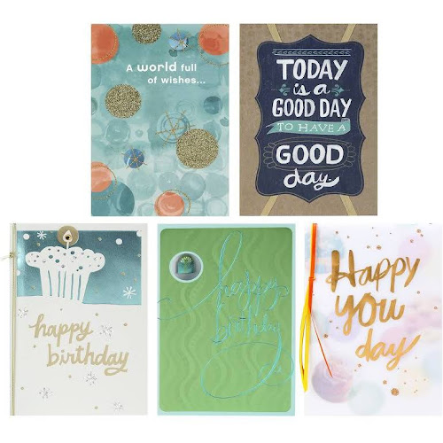 Google Express Hallmark Birthday Cards Assortment 5 Cards With
