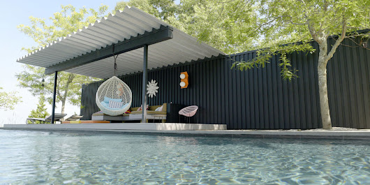 10 Modern Outdoor Spaces with Relaxing Swings - Design Milk