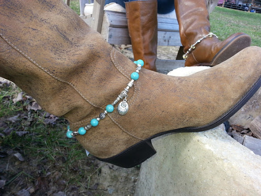 Silver and Blue Magnesite Boot Bling – Arzinger Jewelry